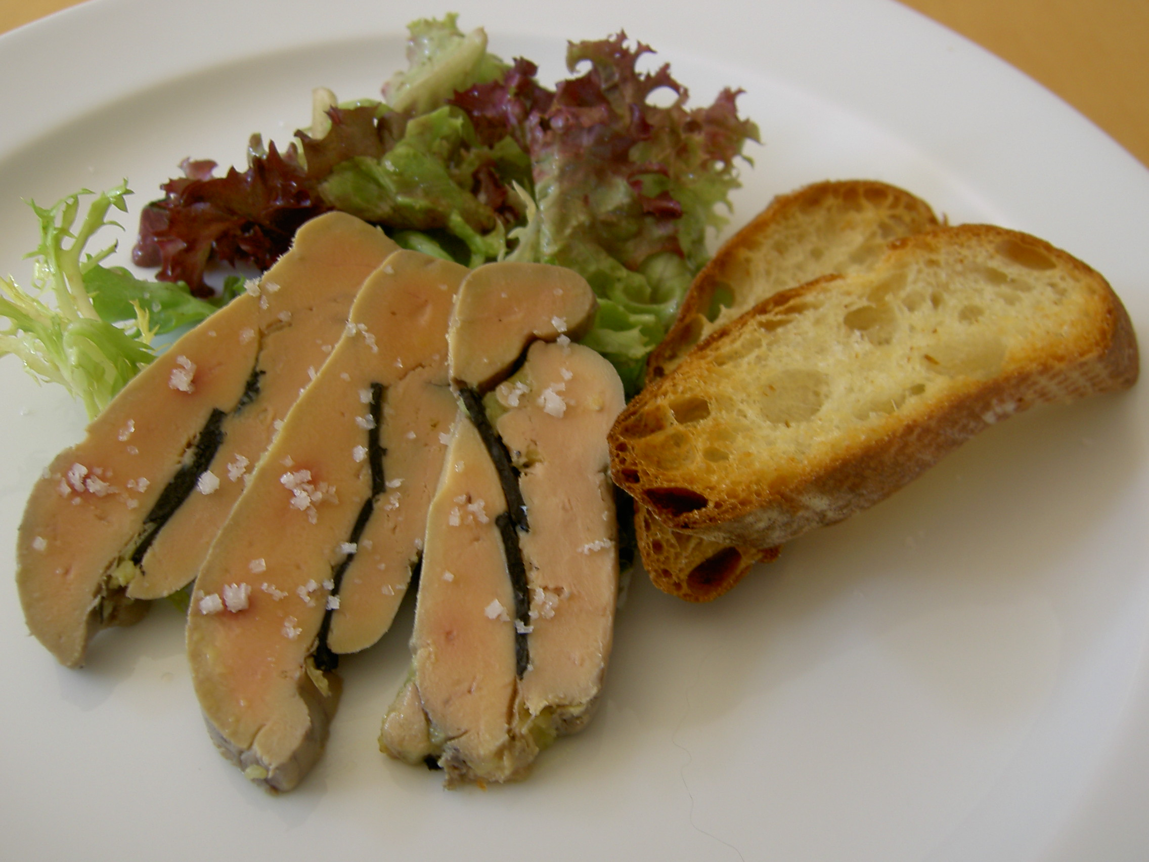 Foie gras terrine with black truffles. (Photo courtesy Google Images)