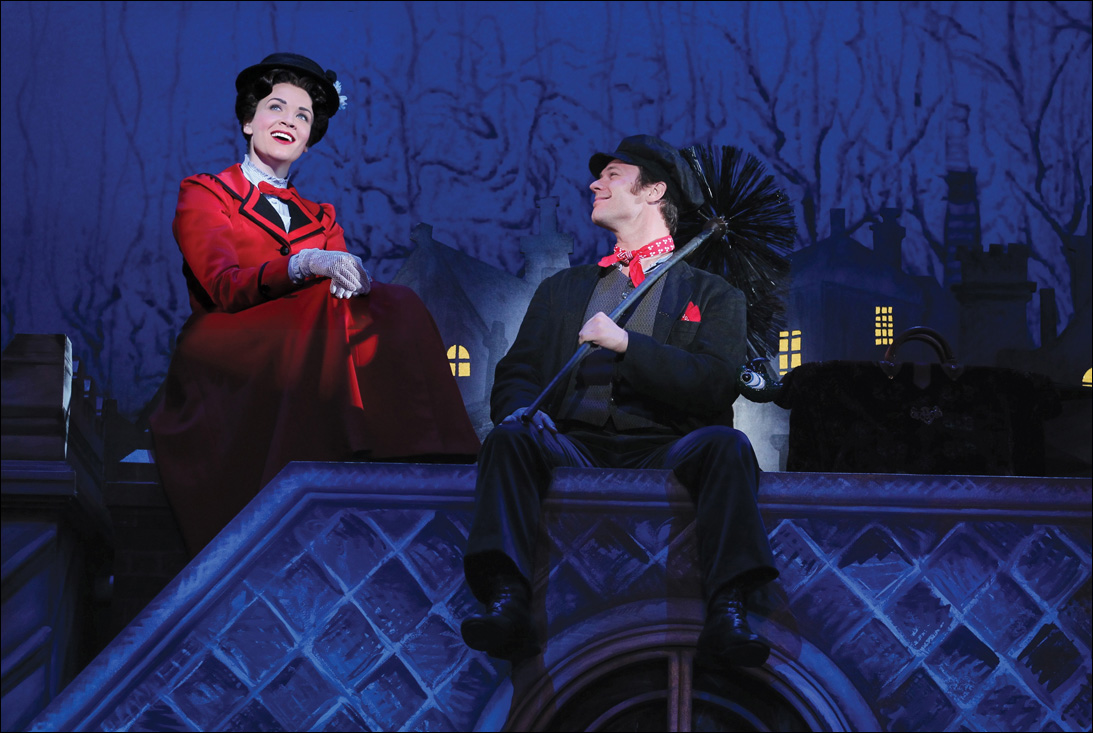 Rachel Wallace and Nicolas Dromard in 'Mary Poppins,' which returns to the Center Theatre Group/Ahmanson Theatre Aug. 9 through Sept. 2. (Photo courtesy Disney/CML)