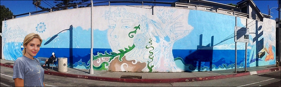 MURAL MAGIC: Artist Kristel Lerman honors the environment and the Chumash culture. (Photo courtesy Matthew Hynes)