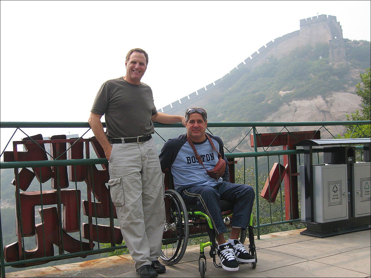 BUDDIES: Jack Walter poses with Steve Ferguson (right), his Beijing Paralympic sidekick. (Photo courtesy Jack Walter)