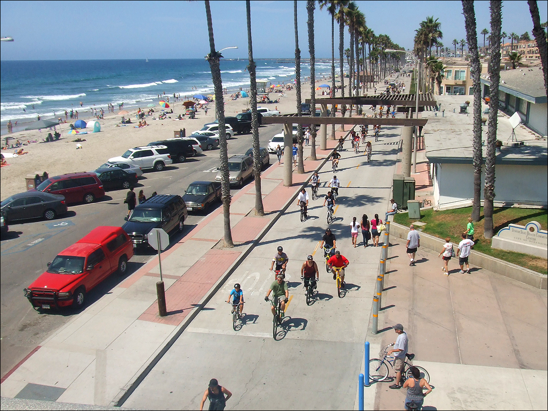 It seems that everybody in Oceanside rides a bike.