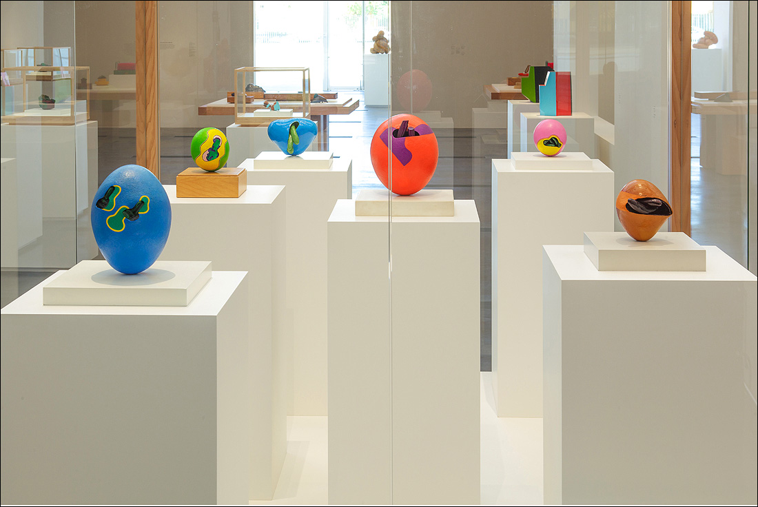 MODERN WITH A TOUCH OF TRADITION: A view of the Ken Price installation at the Los Angeles County Museum of Art. The exhibit is now open and runs through Jan. 6.  (Photo courtesy LACMA)