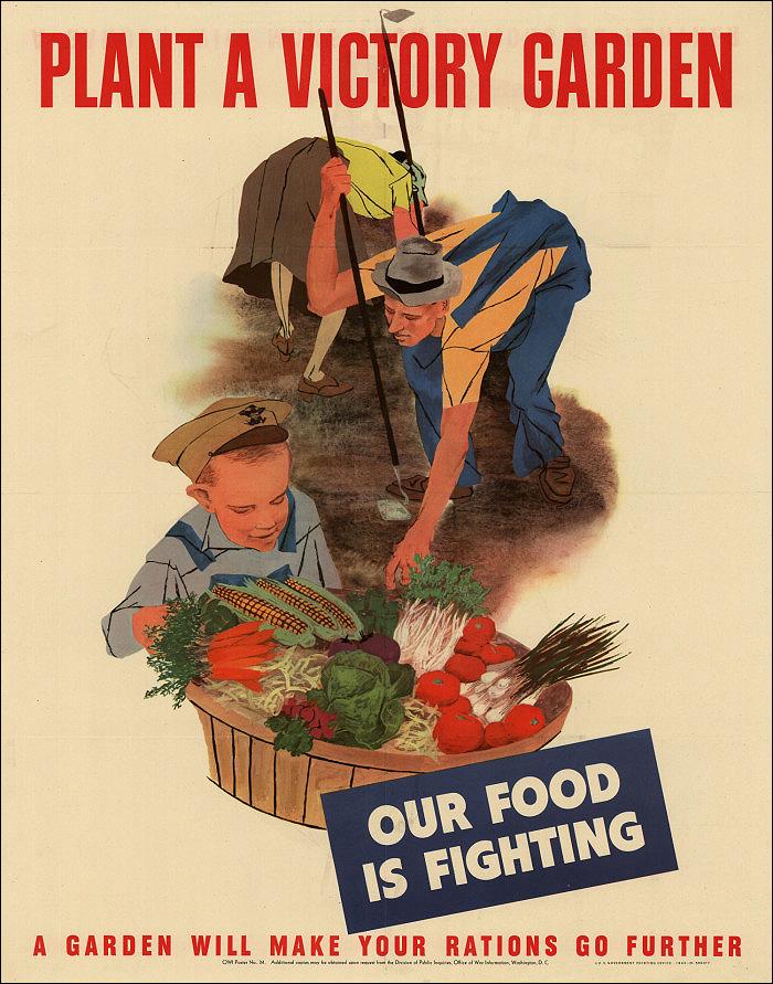 VINTAGE: A Victory Garden poster from 1943 that was created by the U.S. Office of War Information. (Image courtesy University of North Texas )