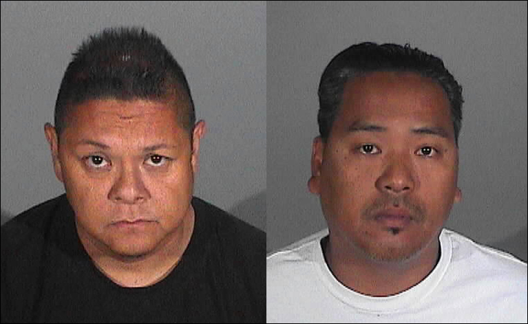 Jay Jeffrey Nieto (left) and Wilmer Bolosan Cadiz have been arrested in connection to a major art heist early this month.