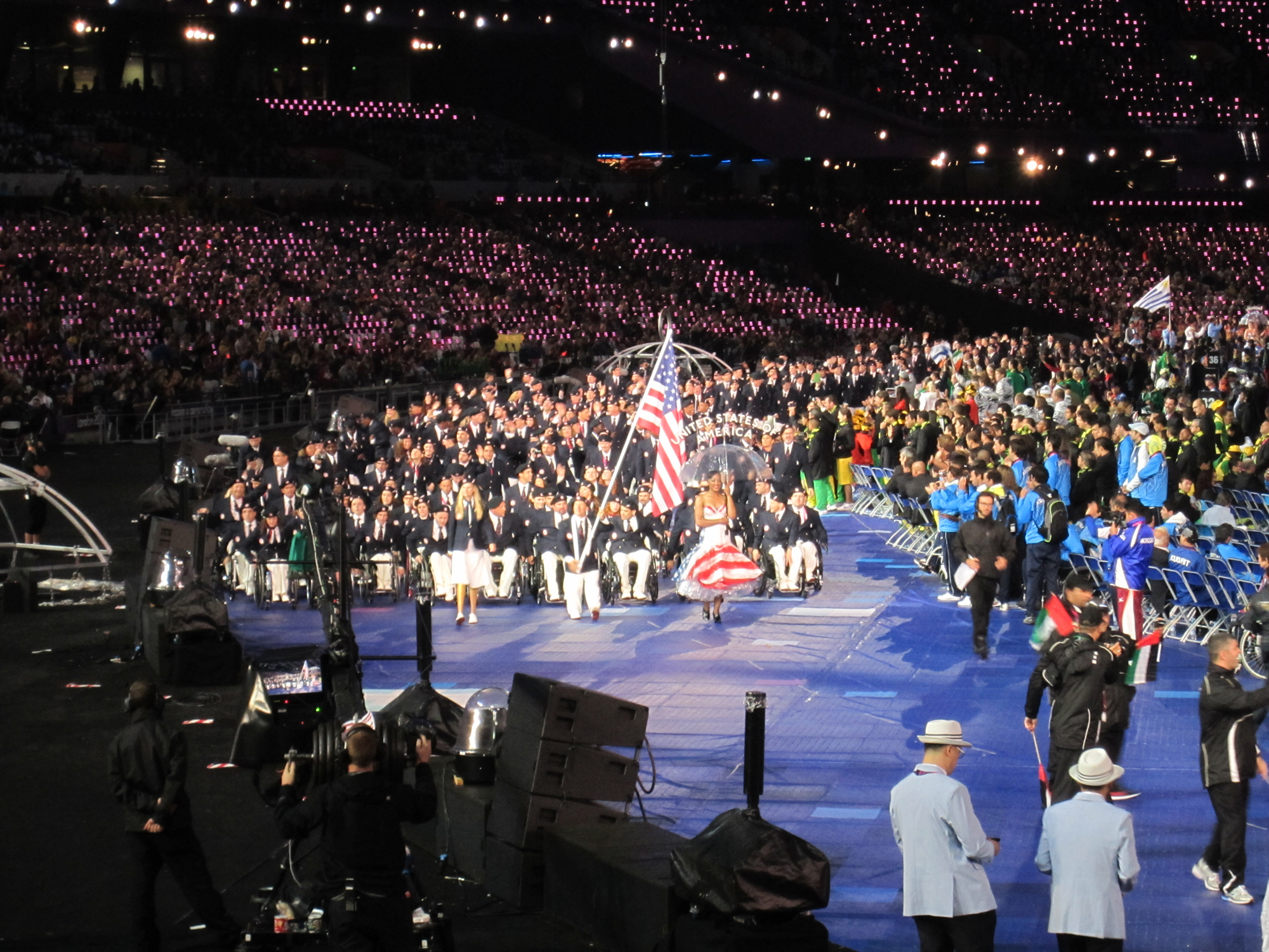 The closing ceremony for the 2012 Paralympic Games. (Photo by Jack Walter.)