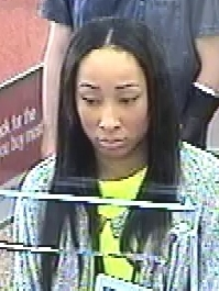 Suspect wanted for allegedly cashing bogus checks. (Photo courtesy SMPD.)