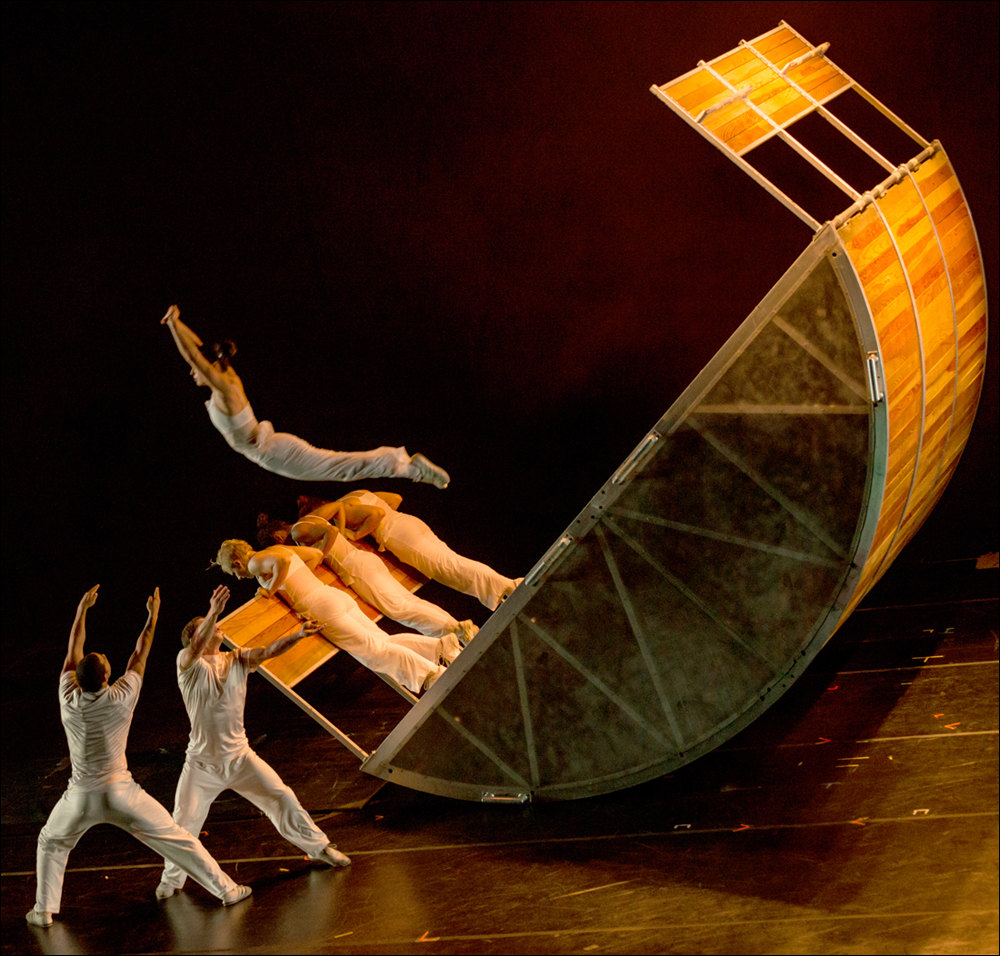 MOVING: Diavolo Dance Theater at The Broad Stage in the L.A. premiere of 'Transit Space.' (Ben Gibbs / Ben Gibbs Photograph)
