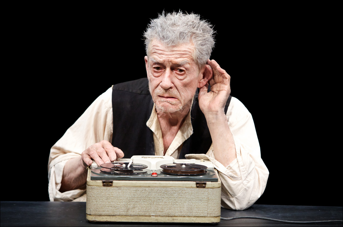 John Hurt stars in 'Krapp's Last Tape' at the Kirk Douglas Theatre. (Photo courtesy Kirk Douglas Theatre)
