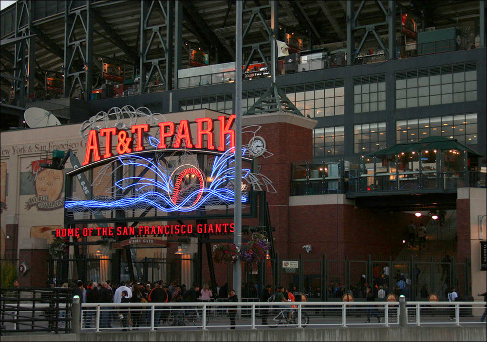 PLAY BALL: The Natural Resources Defense Council calls the greening of pro sports 'a cultural shift of historic proportions,' bringing important environmental messages to millions of fans worldwide while becoming 'more efficient, healthy and ecologically intelligent.' Pictured: The San Francisco Giants' AT&T Park, which has saved substantial amounts of energy through a series of lighting retrofits. (Photo courtesy Michael Fitzgerald)
