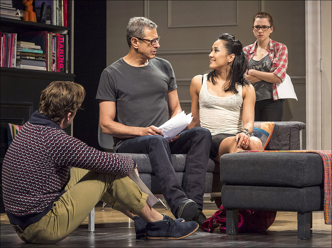 Jeff Goldblum (center) stars in 'Seminar' at The Ahmanson Theatre.