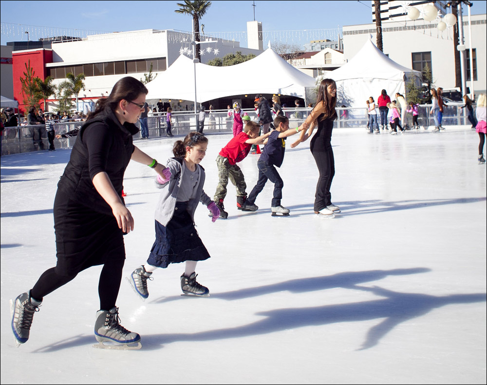 People skate during last year's installment of ICE at Santa Monica. (Photo by Brandon Wise)