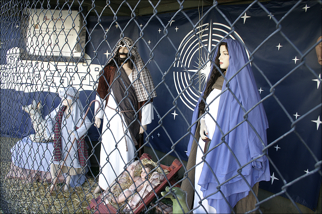 A group of churches are organizing an alternative to the annual nativity scenes, which were banned by the City Council earlier this year. (Photo by Daniel Archuleta)