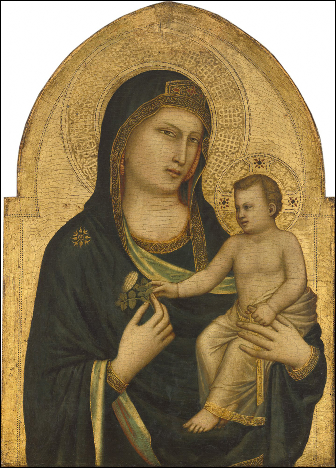 Madonna and Child, about 1320 - 1330 by Giotto di Bondone (Image courtesy National Gallery of Art; Washington; Samuel H. Kress Collection)