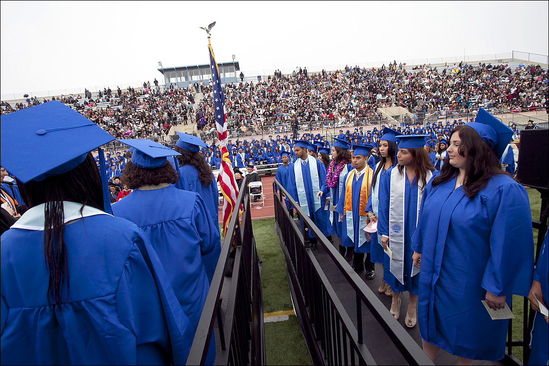 SMC students take part in the 2011 graduation ceremony. (Photo by Brandon Wise)