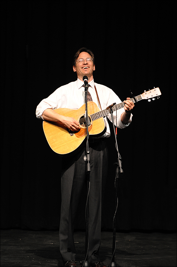 Satirical singer-songwriter Roy Zimmerman tackles politics, religion, war and same sex marriages in his act.
