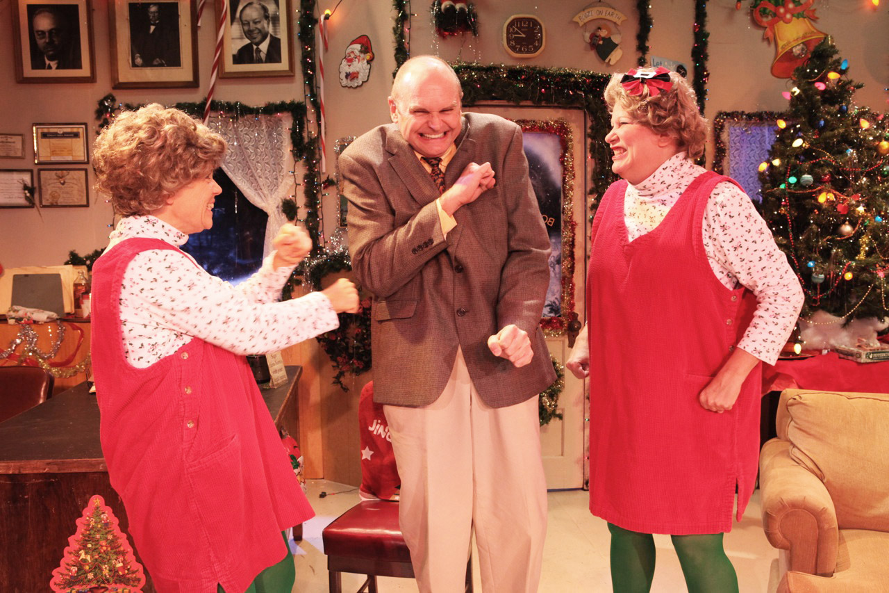 GOOD TIME: Linda Miller, Pete Colburn and Melissa Denton star in 'Bob's Holiday Office Party.' Photo courtesy Daniel Galindo