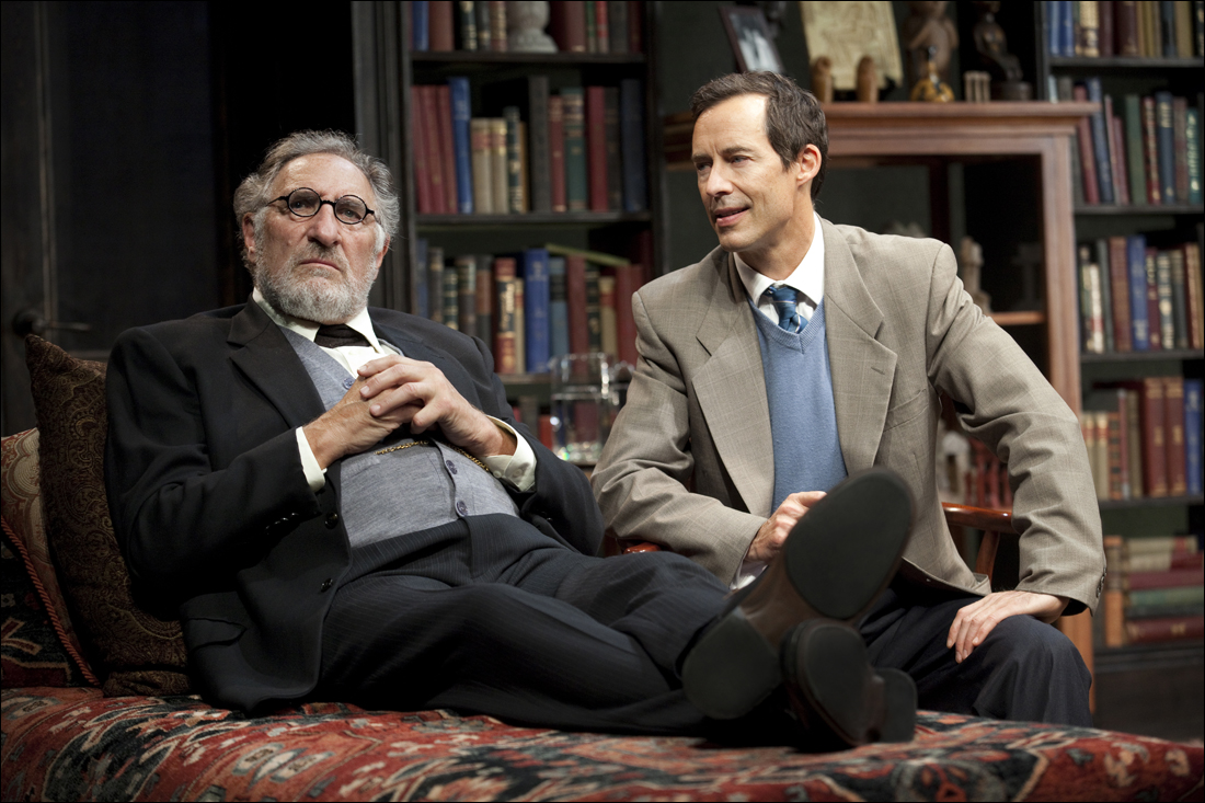 Judd Hirsch (left) and Tom Cavanagh star in 'Freud's Last Session.' (Photo courtesy Broad Stage)