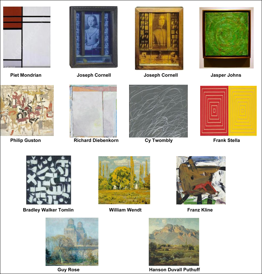 These are some of the previously stolen works of art. (Image courtesy SMPD)