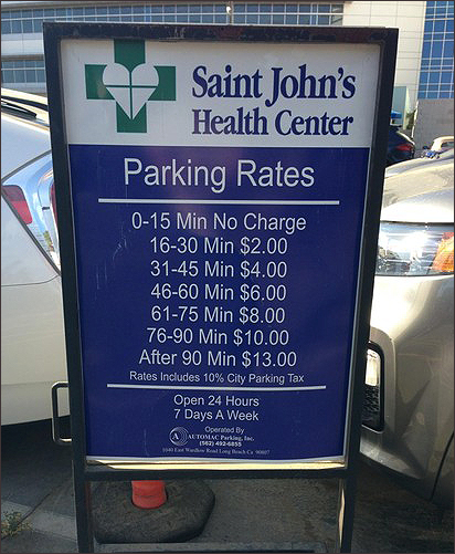 Parking at Saint John's Health Center has been a point of contention for residents. (Photo courtesy Google Images)