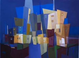 Silvio's 'Architecture in Blue.'