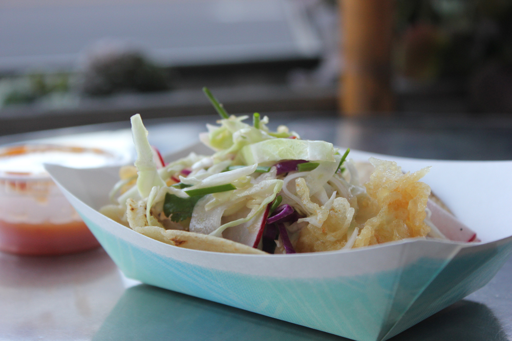 Perfectly crispy, lightly breaded in a tempura-like batter and wrapped with cabbage and thinly sliced radishes, the fish taco at Tacos Punta Cabras stands up with the best around. (Michael Ryan michael@smdp.com)