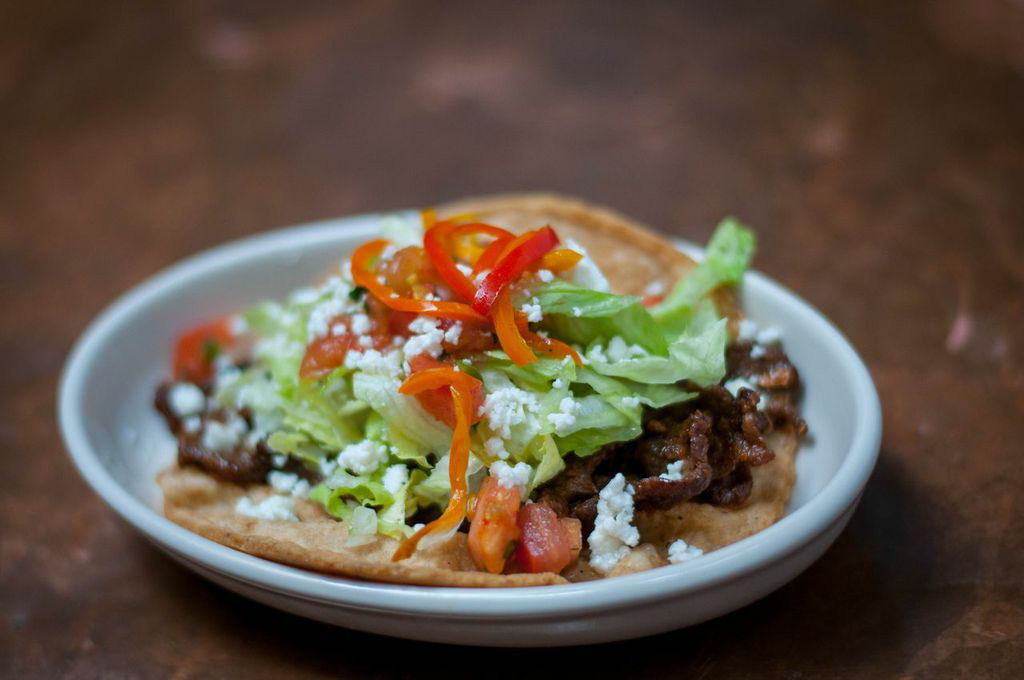 Flatiron steak taco with Dog Snout salsa at TINGA. (Photo courtesy TINGA)