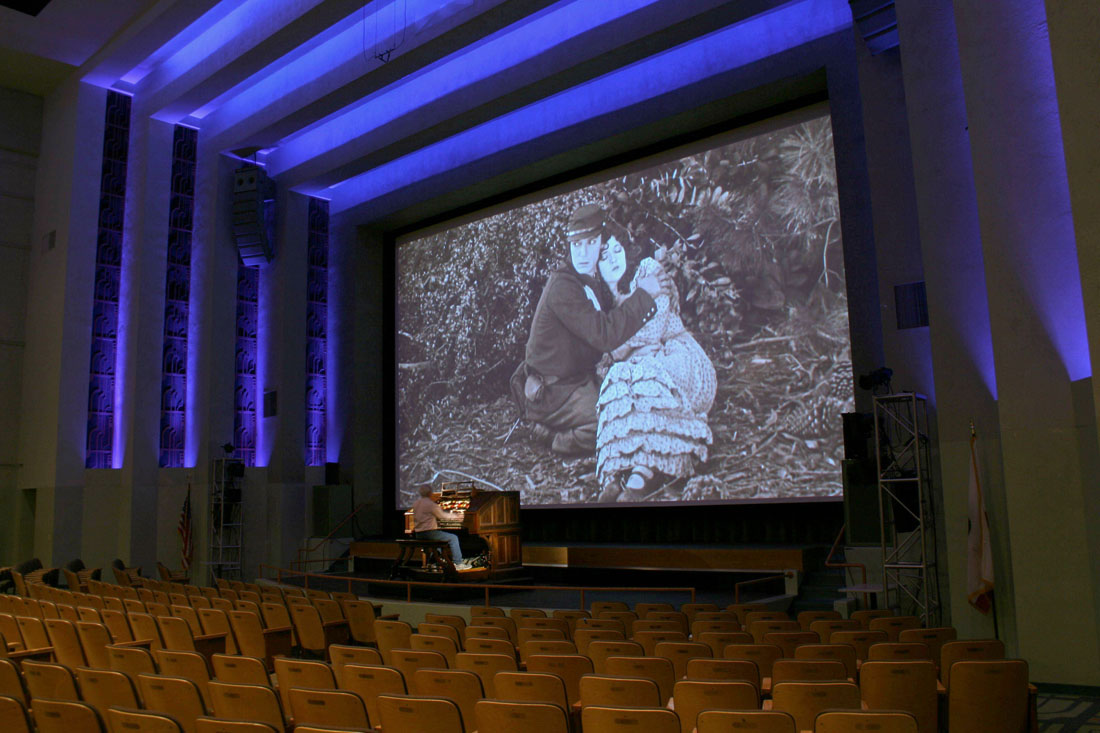 OLD SCHOOL: Robert Isreal will play Barnum Hall's restored Wurlitzer organ during a pair of Buster Keaton silent films on Saturday. (Photo courtesy Santa Monica High School)