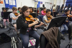 Students from local schools rehearse in March with the Santa Monica-based nonprofit Elemental Strings. Over 400 students in the community have been a part of Elemental Strings since its inception in 2004.
