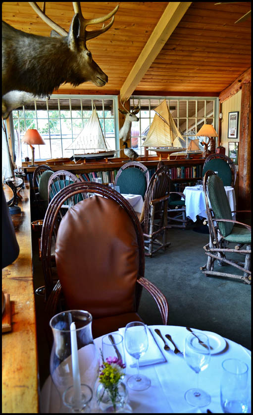 The rustic interior of the Saddle Peak Lodge helps diners get in the mood and provides a truly unique setting. (Photo courtesy Saddle Peak Lodge)