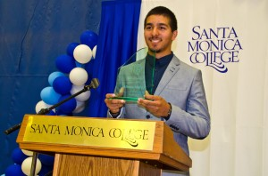 Congratulations to former SMC Quarterback Alfonso Medina for winning the 2012-13 Student Athlete of the Year award. Medina threw over 60 touchdown passes, breaking the career record at SMC and leading the Corsairs to back-to-back Conference Championships for the first time in 30 years. (Photo courtesy Fabian Lewkowicz)