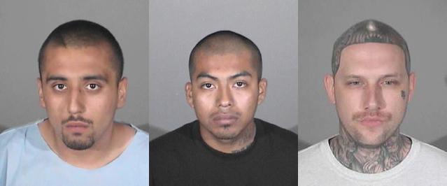 (L to R) Christopher Chonan Osumi, Meliton Lorenzo Lopez, Noah Jason Farris. (Images courtesy SMPD)