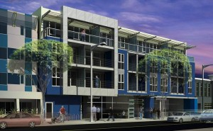 1318 Second St. Rendering of proposed development.