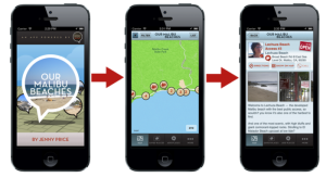 The 'Our Malibu Beaches' app is available at the iTunes store and is free to download. (Photo courtesy Kickstarter.com)