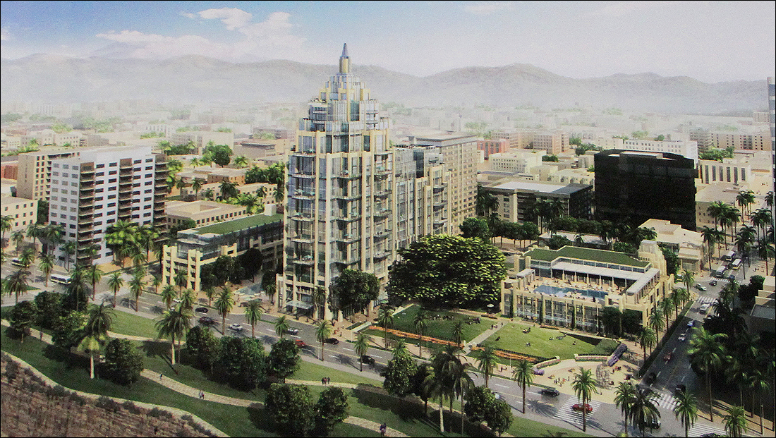 LOOK OF THE FUTURE? Rendering of the proposed Fairmont Miramar Hotel expansion. (Courtesy MSD Capital)
