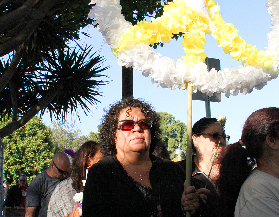 The Santa Monica Vigil for Peace and Healing began last month outside of the Yorkshire Avenue house where John Zawahri killed his father and brother before setting out on a shooting spree that left five dead. (File photo)