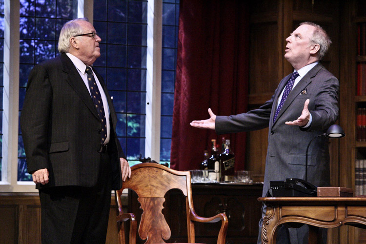 PLAYING IT UP: Dakin Matthews and Michael McKean in 'Yes, Prime Minister.' (Photo courtesy Michael Lamont)