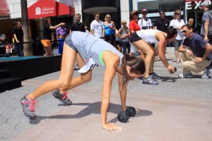 WORKING IT: Athletic trainers participate in last year's Well-Being, Health and Fitness Festival on the Third Street Promenade. (File photo)