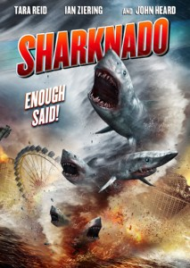 The movie poster for 'Sharknado' features a Ferris wheel but whether or not it's the one on the Santa Monica Pier remains to be seen. (Photo courtesy SyFy Channel)