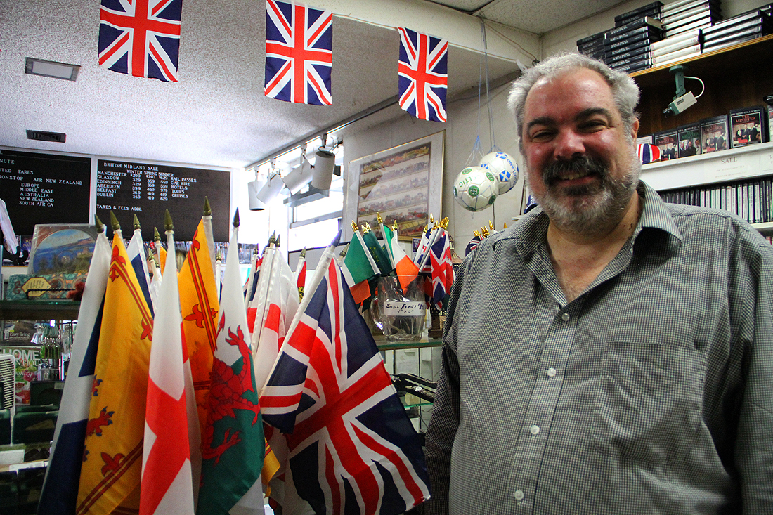 Michael Clewer owns the Continental Shop on Wilshire Boulevard. The store specializes in all things British. (Daniel Archuleta daniela@smdp.com)