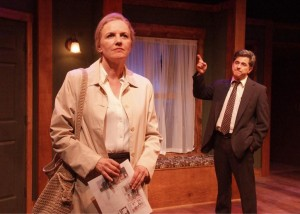 Eve Gordon and Robert Cicchini in the world premiere of Skylight Theatre's 'Open House.'