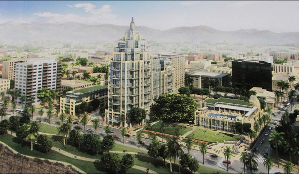 Rendering of the proposed Miramar Hotel project. (File photo)