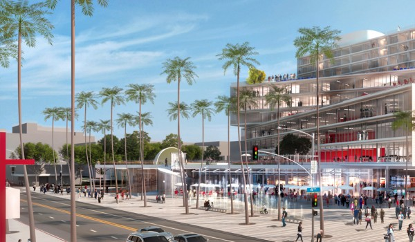 This rendering depicts a development being proposed for the corner of Fourth Street and Arizona Avenue in Downtown. (Courtesy Metropolitan Pacific Capital)