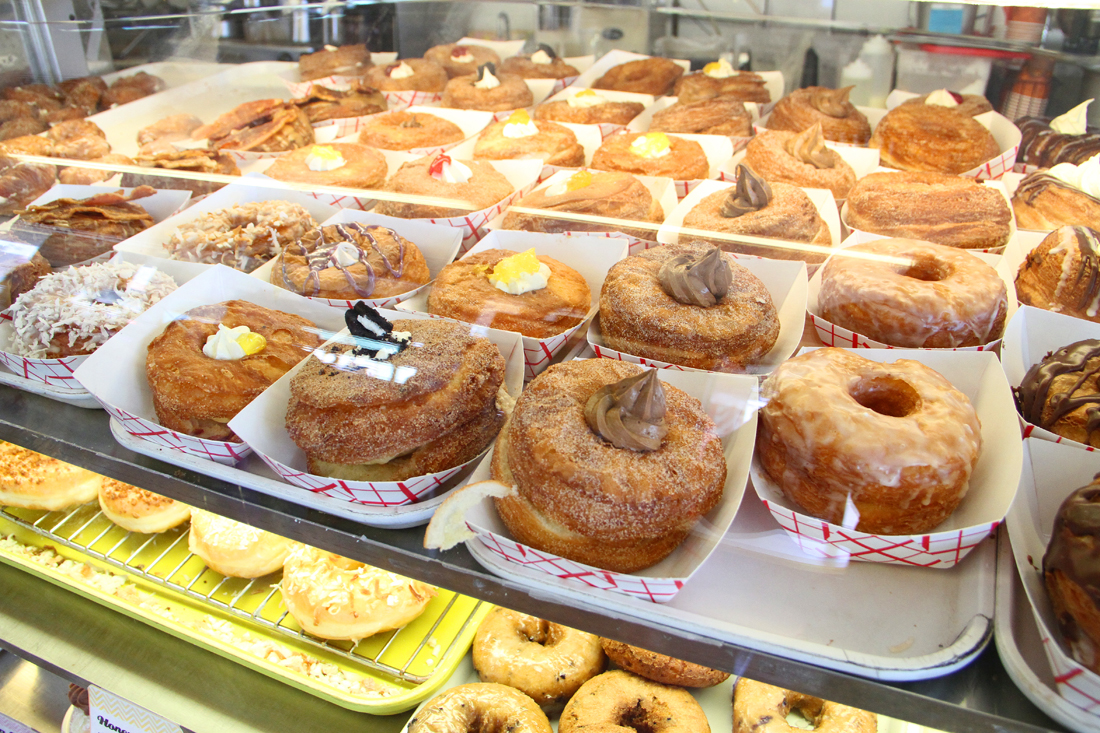 DK's Donuts offers a wide variety of DK's Double-Decker-O-Nuts. (Daniel Archuleta daniela@smdp.com)