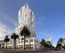 IN THE WORKS: This Frank Gehry-designed hotel is planned for Ocean Avenue. (Rendering courtesy Gehry Partners LLP)