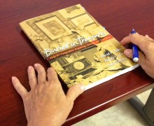 The book 'Buried in Treasures' was part of a discussion on senior hoarding at the Ken Edwards Center on Wednesday. (Ameera Butt ameera@smdp.com)