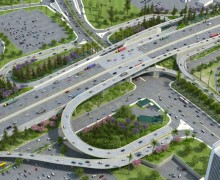 When all is said and done, this is what Wilshire Boulevard and the 405 will look like.  (Rendering courtesy Metro.net)