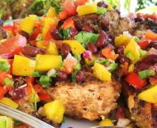 Jerk chicken with mango salsa. (Photo courtesy repurposedlife.wordpress.com)