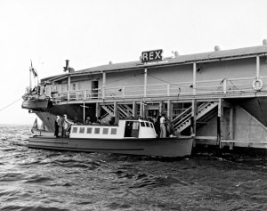 The S.S. Rex, a brainchild of mobster Tony Cornero, floated off the Santa Monica coast in the late 1930s, allowing people to gamble, drink and dance without fear of being arrested. (Photo courtesy Santa Monica History Museum)