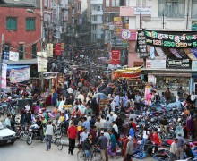 The jury is still out as to whether human overpopulation will become a footnote in history or the dominant ill that stands in the way of all other efforts to achieve sustainability and a kinder, gentler world. Pictured: A crowded street in Kathmandu, Nepal. (Photo courtesy Pavel Novak)