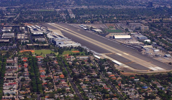 NEW USE? The future of the embattled Santa Monica Airport may be as a park if a new group has anything to say about it. (Brandon Wise brandonw@smdp.com)